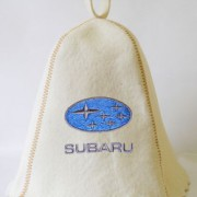 Шапка для сауны с вышивкой 'Субару'