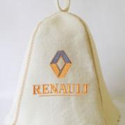 Шапка для сауны с вышивкой 'Рено'