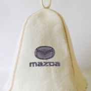 Шапка для сауны с вышивкой 'Мазда'