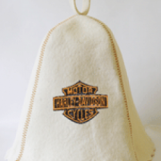 Шапка для сауны с вышивкой 'Харли Девидсон'