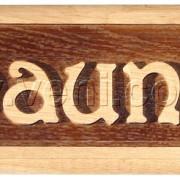 Табличка резная «Sauna»