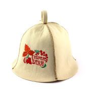 Шапка для сауны искусственный фетр»Добрая банька-2″