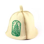 Шапка для сауны искусственный фетр «Елка и подарки»