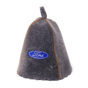 Шапка для сауны  серая с вышивкой «Ford»