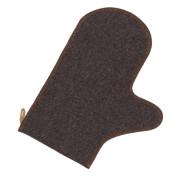 Рукавичка для сауны  б/выш. серый войлок