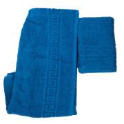 Набор полотенце и парео синий.