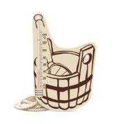 Термометр для бани исп.7 (шайка)